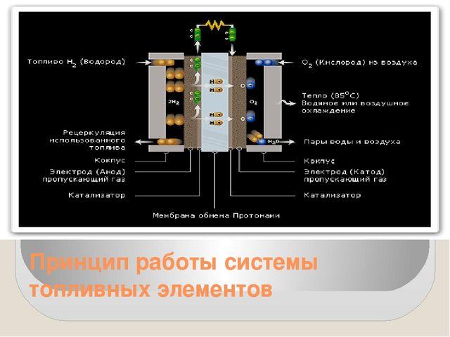 Принцип работы системы топливных элементов