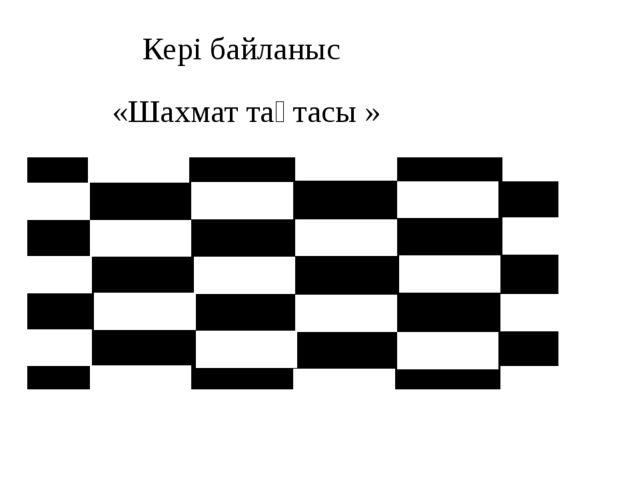 Кері байланыс «Шахмат тақтасы »