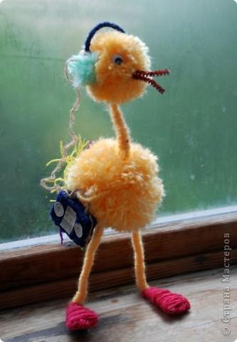 игрушка страус своими руками