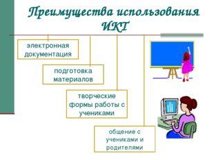Преимущества использования ИКТ электронная документация подготовка материалов