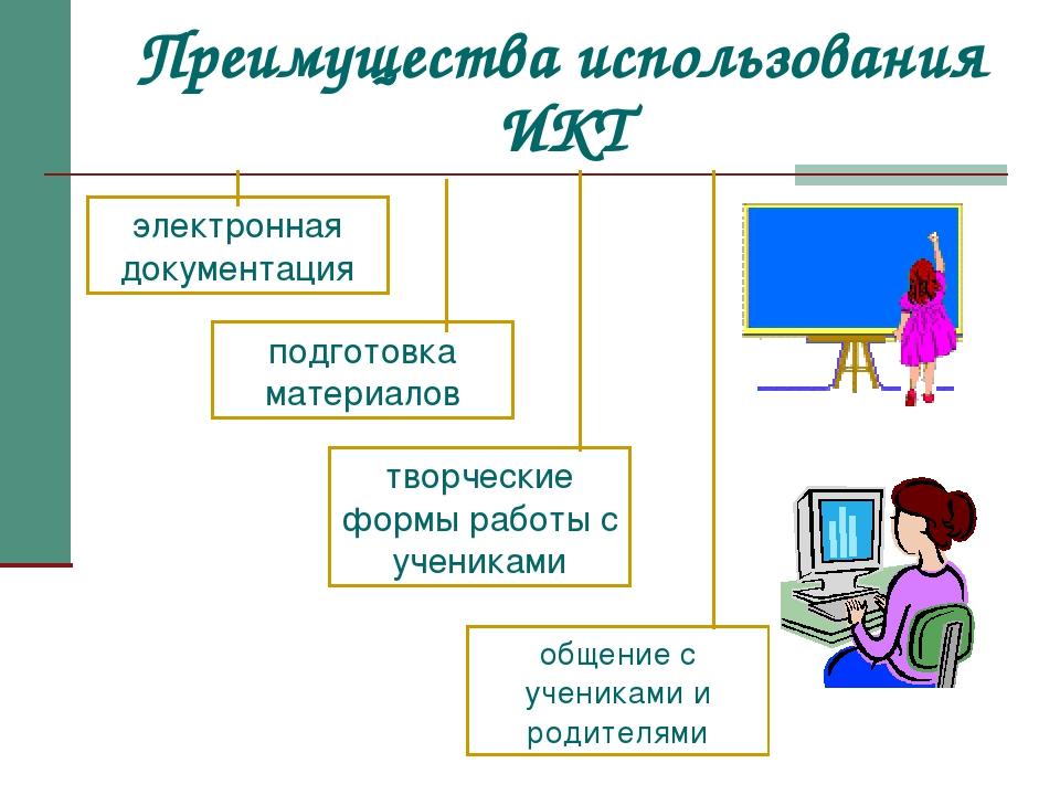 Преимущества использования ИКТ электронная документация подготовка материалов...