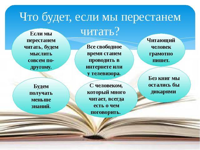 Что будет, если мы перестанем читать? Если мы перестанем читать, будем мыслит...