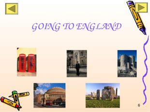 GOING TO ENGLAND