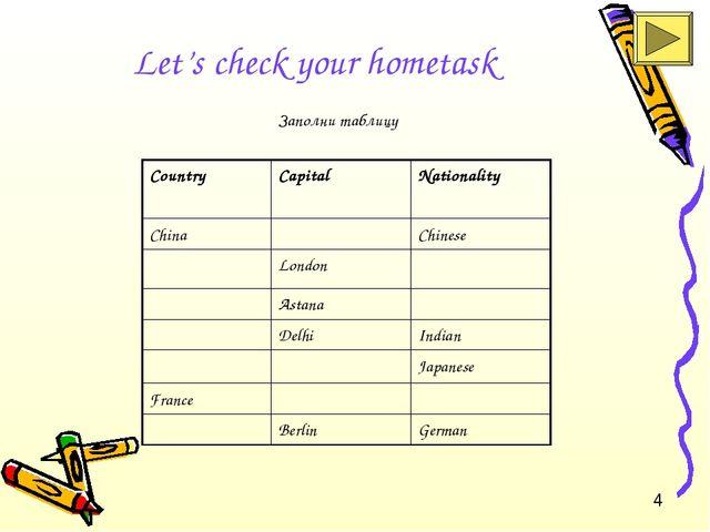 Let's check your hometask Заполни таблицу