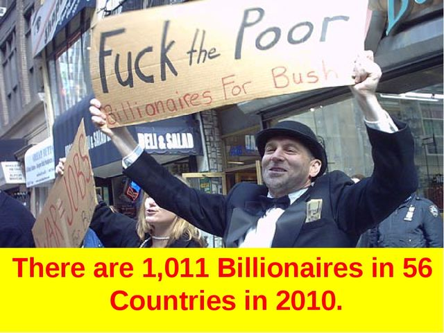 There are 1,011 Billionaires in 56 Countries in 2010.