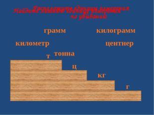 центнер грамм килограмм тонна километр Найдите лишнюю единицу измерения Распо
