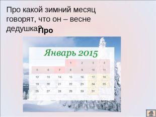 Про какой зимний месяц говорят, что он – весне дедушка? Про январь.