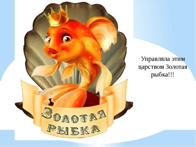 Управляла этим царством Золотая рыбка!!!