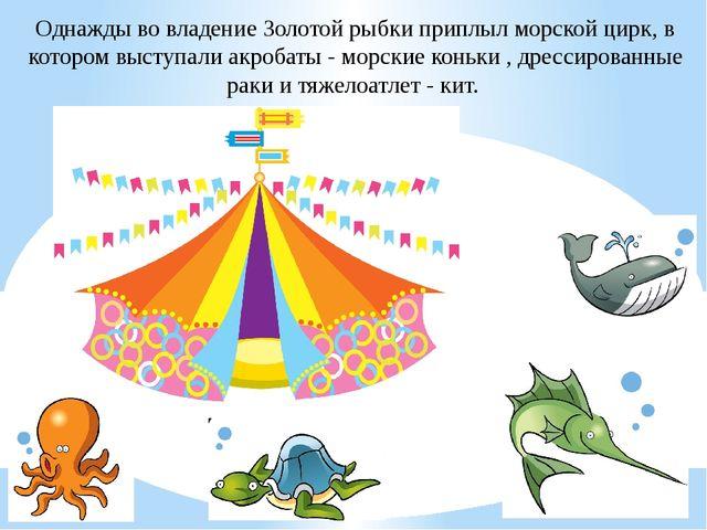 Однажды во владение Золотой рыбки приплыл морской цирк, в котором выступали а...