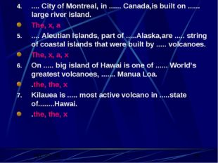.... City of Montreal, in ...... Canada,is built on ...... large river island