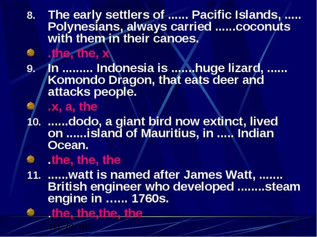 The early settlers of ...... Pacific Islands, ..... Polynesians, always carri...