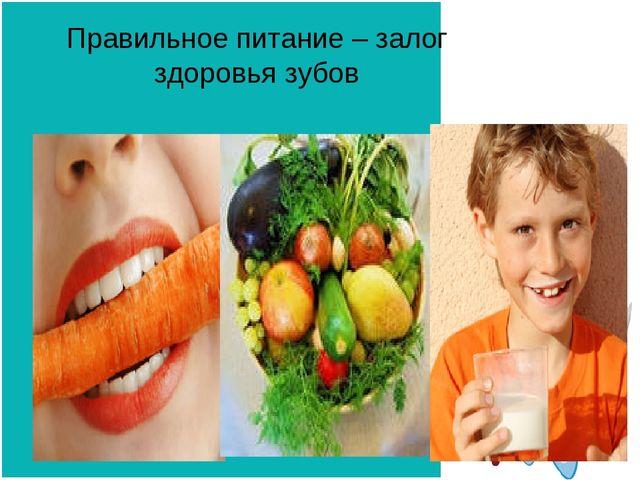 Правильное питание – залог здоровья зубов