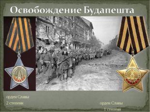 орден Славы 2 степени орден Славы 1 степени