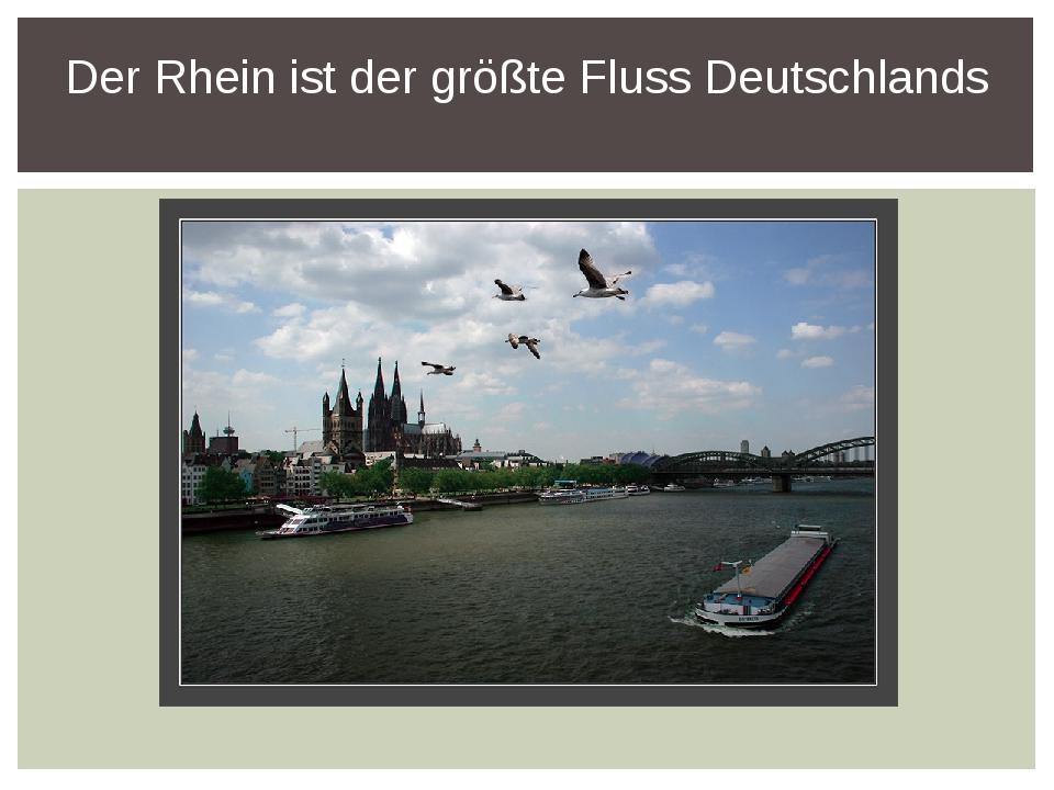 Der Rhein ist der größte Fluss Deutschlands