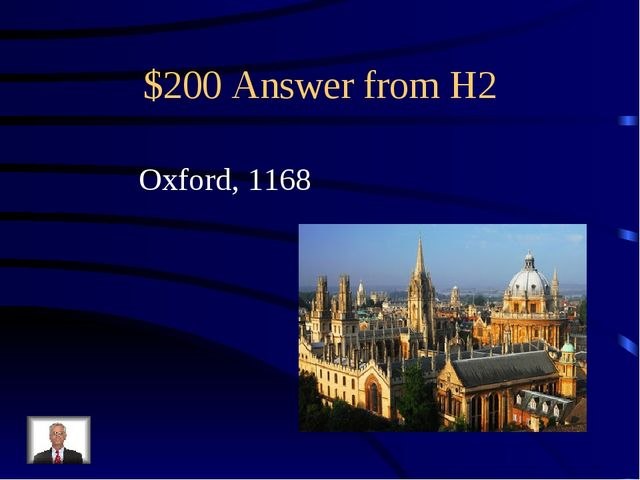 $200 Answer from H2 Oxford, 1168