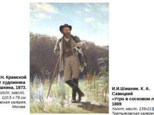 И.Н. Крамской Портрет художника И. И. Шишкина, 1873. Холст, масло. 110,5 x 7