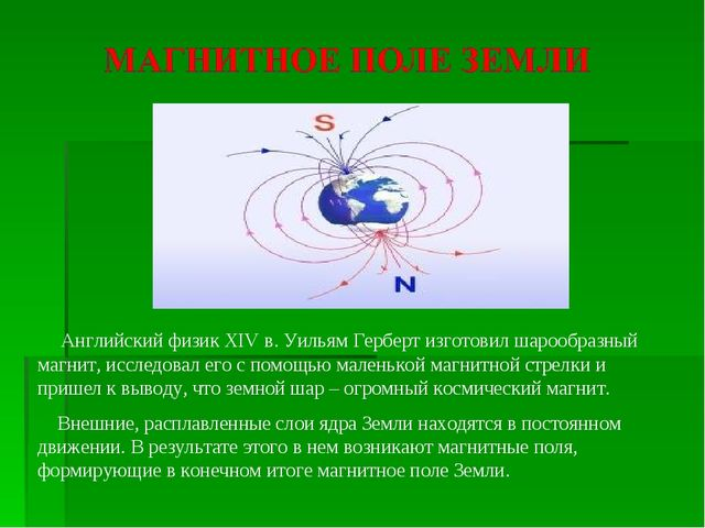 Английский физик XIV в. Уильям Герберт изготовил шарообразный магнит, исслед...