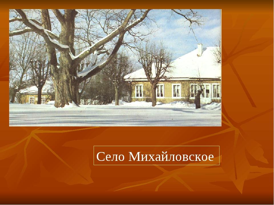 Село Михайловское