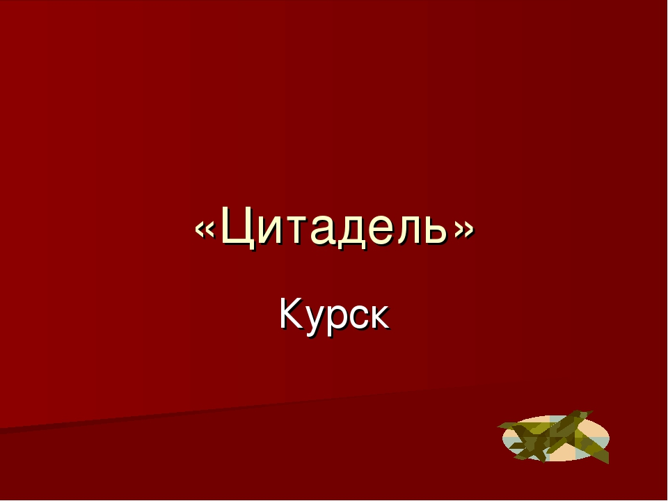 «Цитадель» Курск