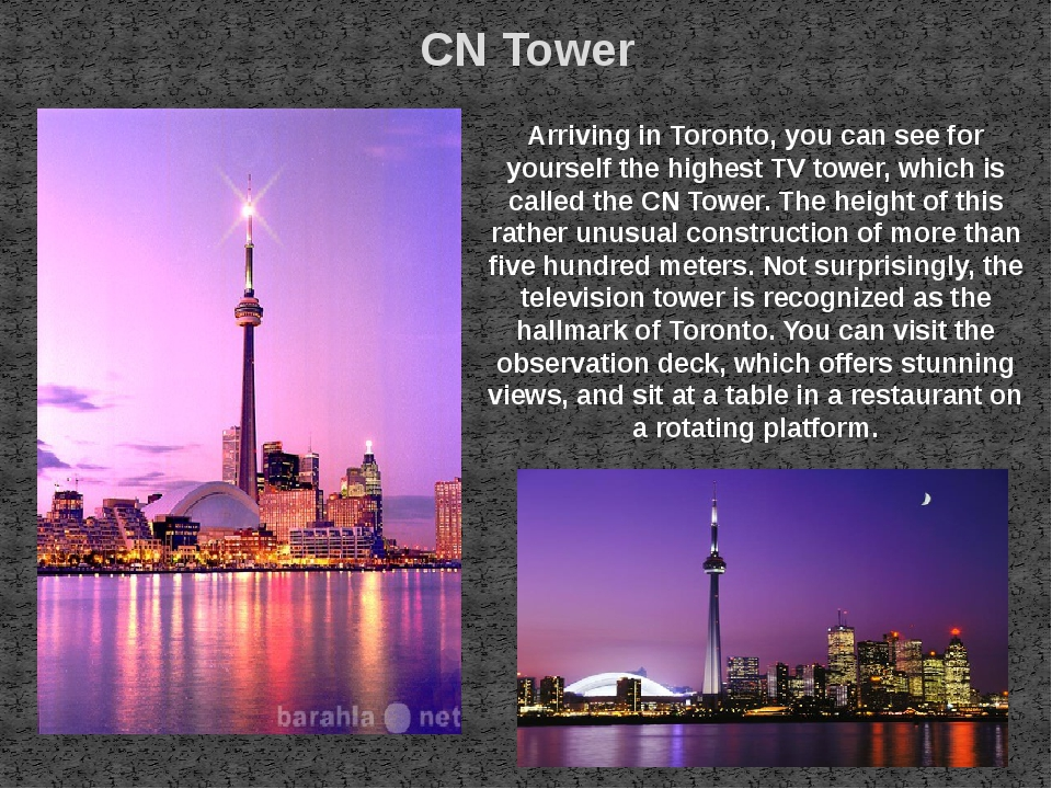 CN Tower Arriving in Toronto, you can see for yourself the highest TV tower,...