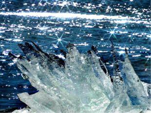 На какие геометрические фигуры раскололись льдинки на реке? Решите примеры,