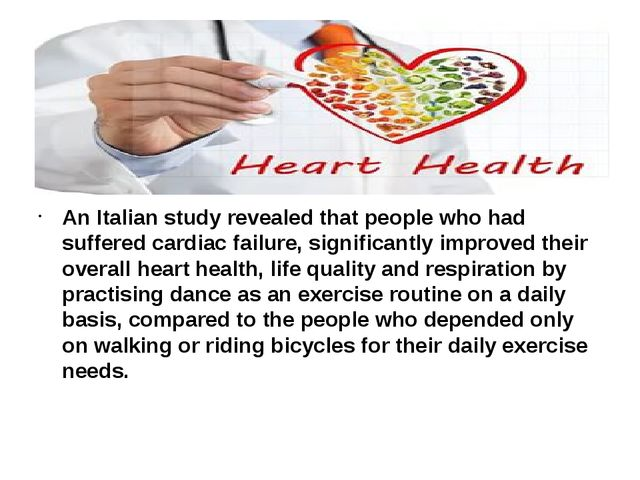 An Italian study revealed that people who had suffered cardiac failure, sign...