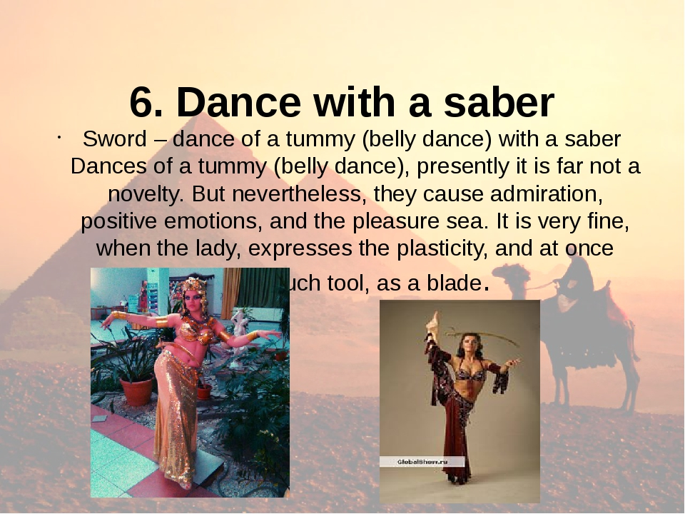 6. Dance with a saber Sword – dance of a tummy (belly dance) with a saber Da...