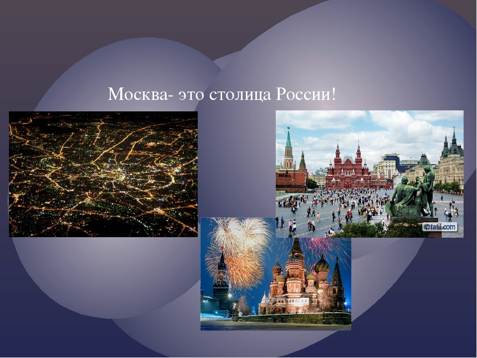 Москва- это столица России!