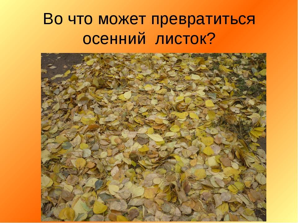Во что может превратиться осенний листок?