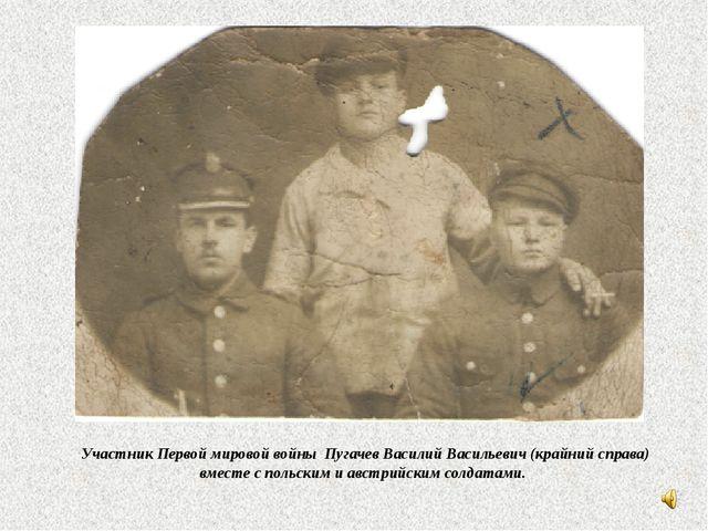 Участник Первой мировой войны Пугачев Василий Васильевич (крайний справа) вм...