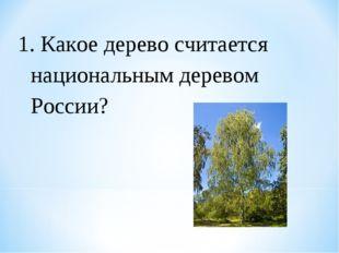 1. Какое дерево считается национальным деревом России?