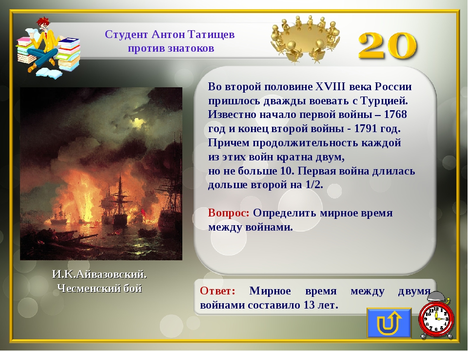 И.К.Айвазовский. Чесменский бой