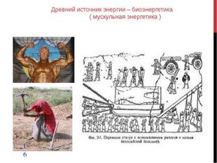 Древний источник энергии – биоэнергетика ( мускульная энергетика )