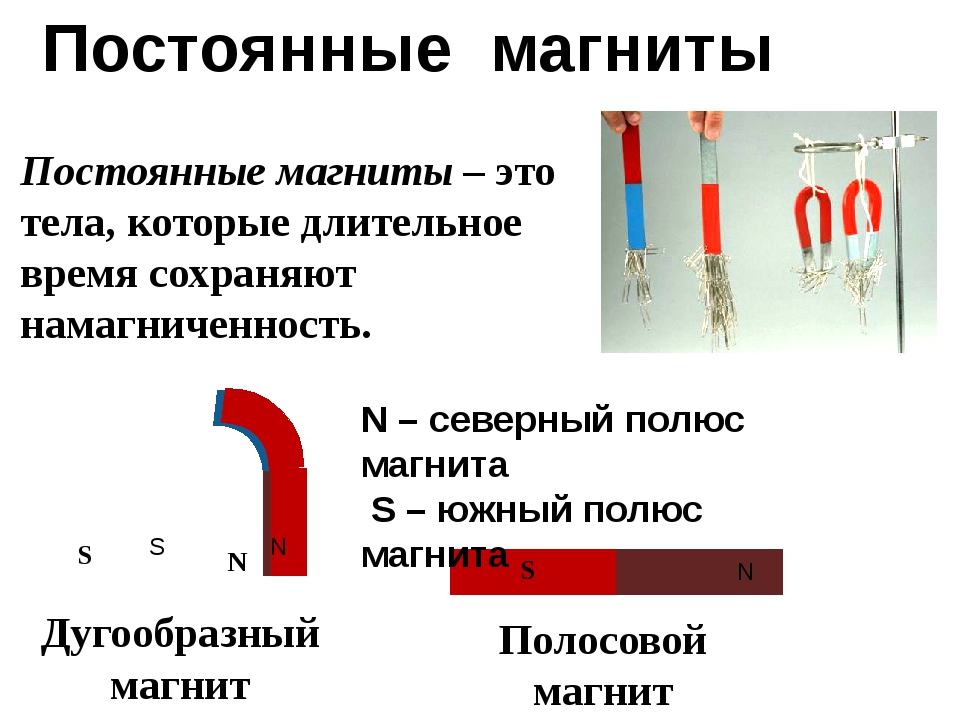Постоянные магниты Постоянные магниты – это тела, которые длительное время со...