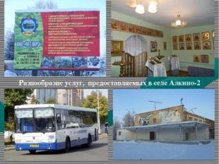 Разнообразие услуг, предоставляемых в селе Алкино-2