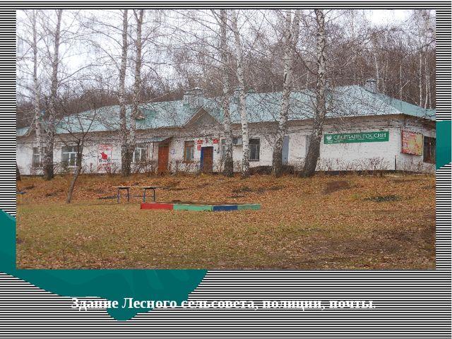 Здание Лесного сельсовета, полиции, почты.