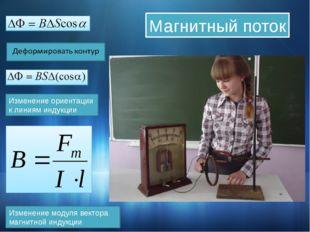 Изменение модуля вектора магнитной индукции Магнитный поток Изменение ориента
