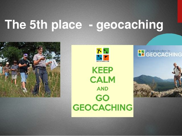 The 5th place - geocaching