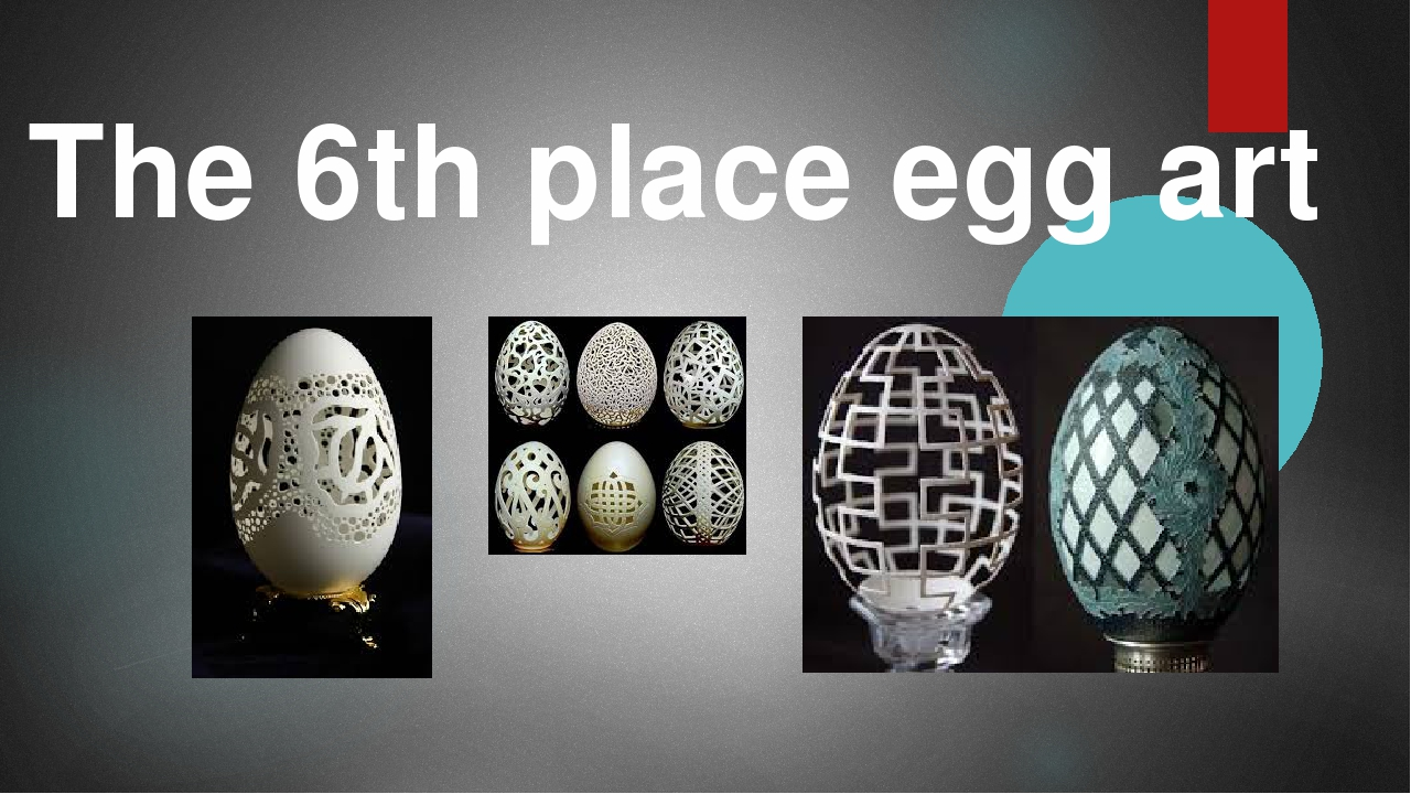 The 6th place egg art