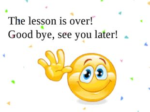The lesson is over! Good bye, see you later!