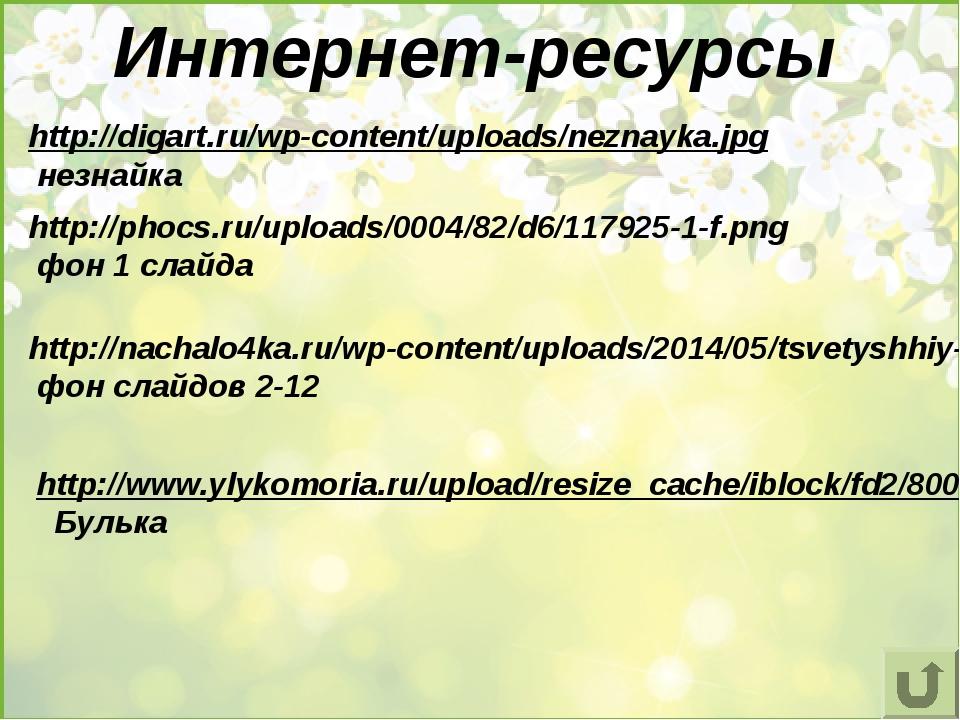 Интернет-ресурсы http://digart.ru/wp-content/uploads/neznayka.jpg незнайка ht...
