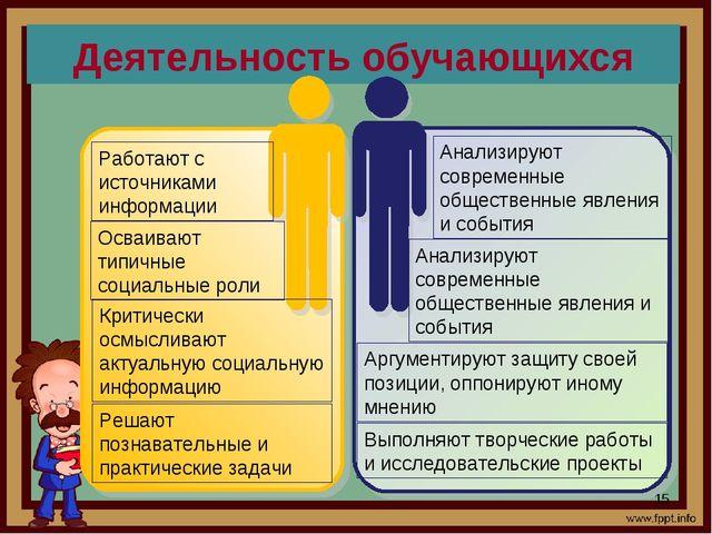 Деятельность обучающихся *