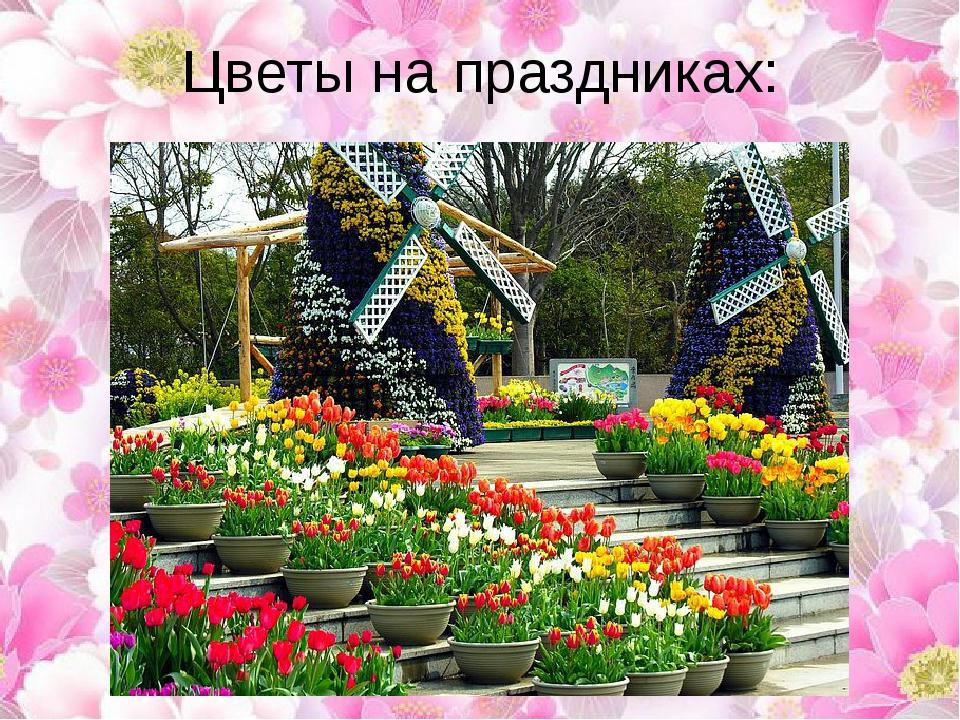 Цветы на праздниках: