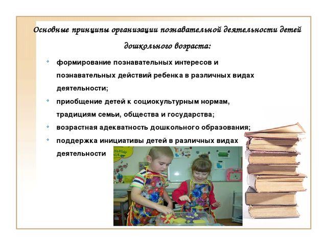 Основные принципы организации познавательной деятельности детей дошкольного в...