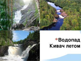 Водопад Кивач летом