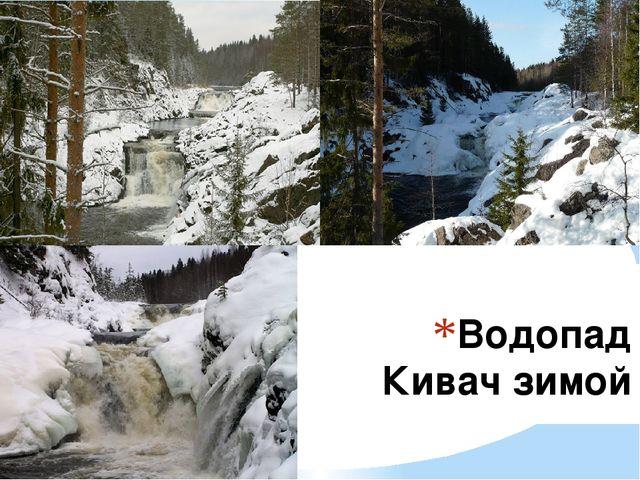 Водопад Кивач зимой