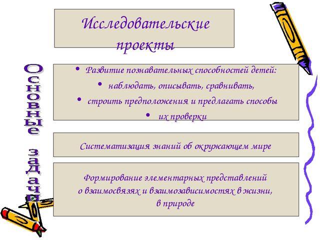 Исследовательские проекты Развитие познавательных способностей детей: наблюда...