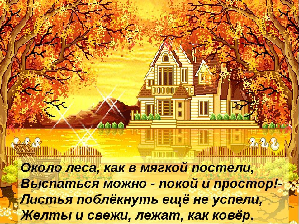 Писаревская Т.П. БСОШ Баган Около леса, как в мягкой постели, Выспаться можно...
