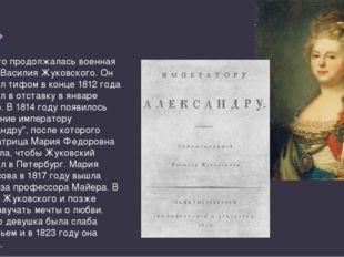 Недолго продолжалась военная жизнь Василия Жуковского. Он заболел тифом в кон
