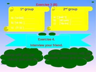 1st group 2nd group ['a:tist]_________ ['dכktə]_________ c) ['lכ:jə]_________